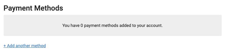 method of payment screenshot