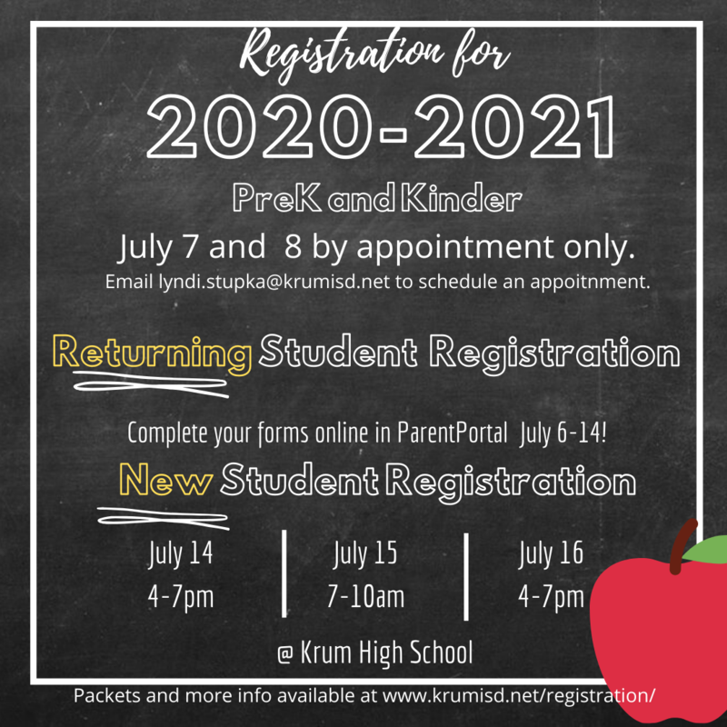 2020-2021 New and Returning Student Registration Featured Photo