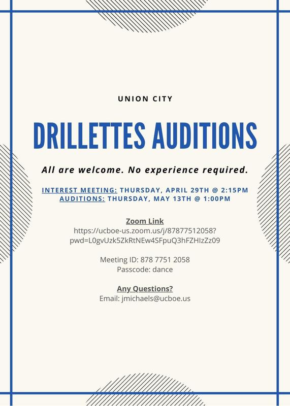 Drillettes Auditions flyer