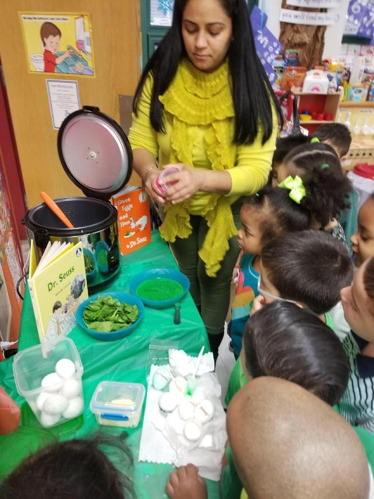 preparing green eggs and ham