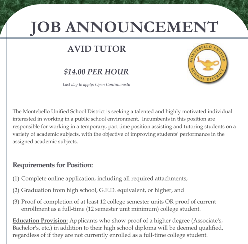avid tutors