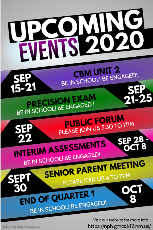 Upcoming Assessments & Events Featured Photo