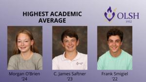 photo of top students at OLSH