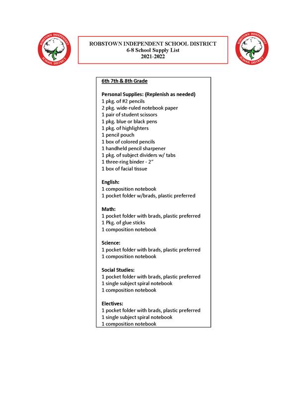 2021- 2022 School Supply List Featured Photo