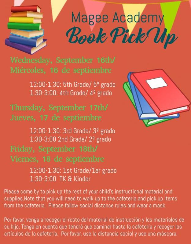 book pick up flyer