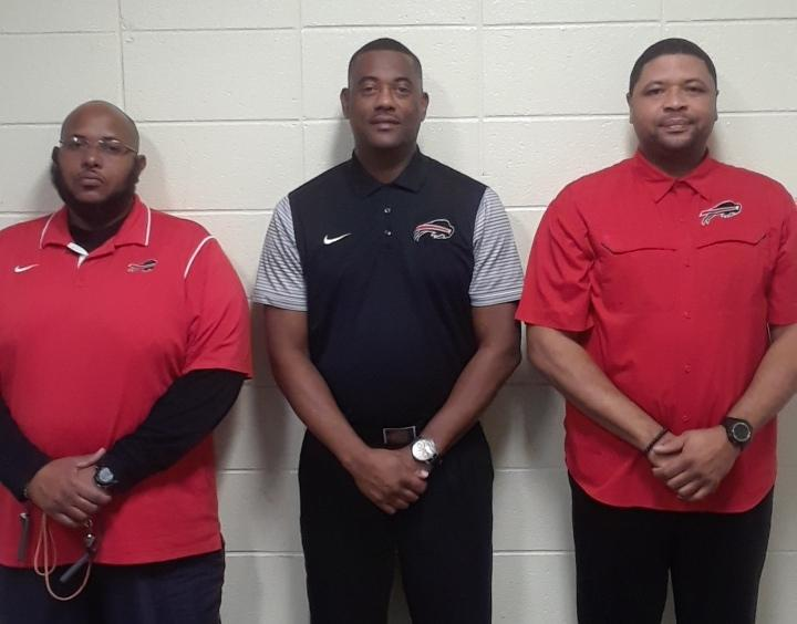 Photo of the 3 Baker High Football coaches to participate in the 2nd Annual NAACP Louisiana High School Senior Bowl Football Game