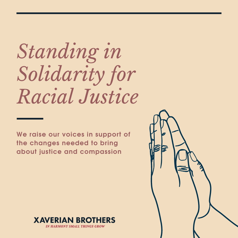 Standing in solidarity for racial justice.
