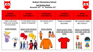 Anti-bullying week calendar