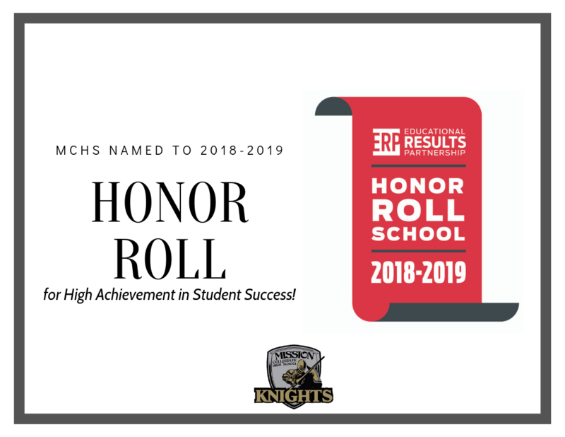 MCHS is Named to 2018 – 2019 HONOR ROLL Featured Photo