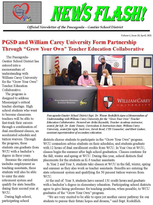 PGSD and William Carey University Create Teaching Partnership