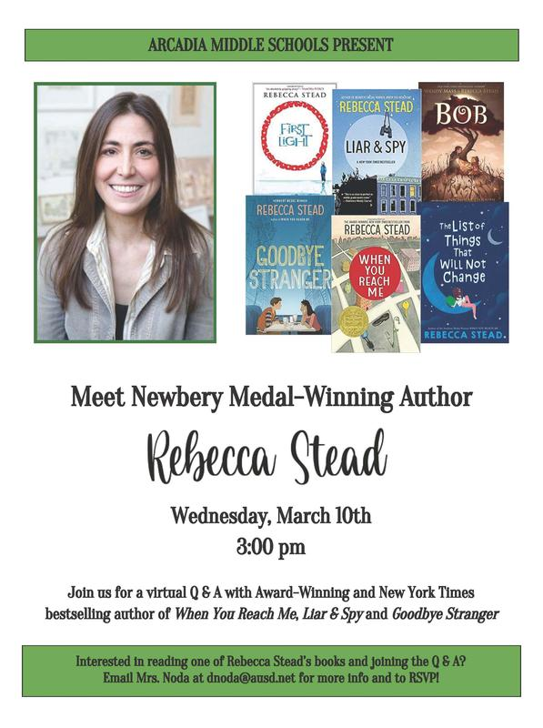 Meet author Rebecca Stead
