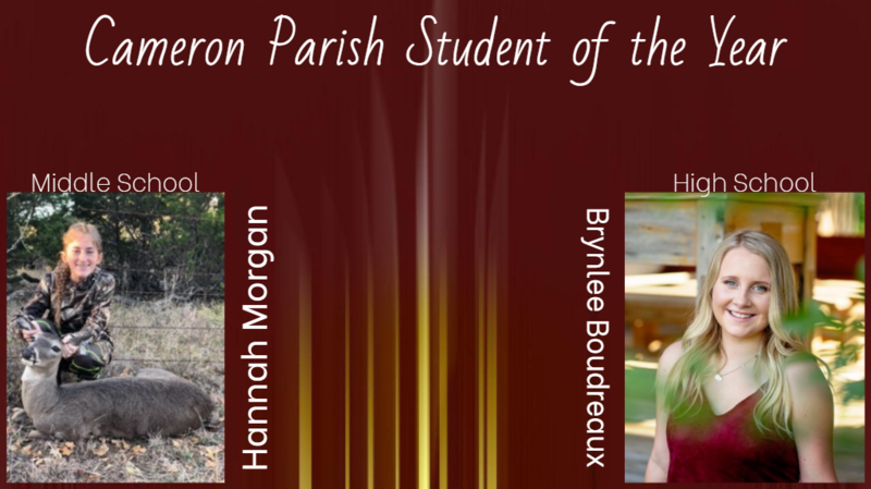 Cameron Parish Middle & High School Student of the Year Thumbnail Image