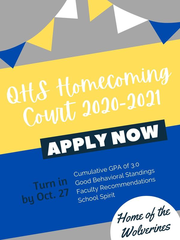 QHS Homecoming Court Application and Information Thumbnail Image