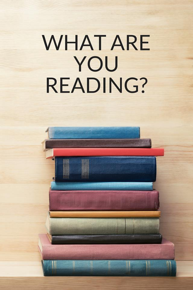"""""""What are you reading?"""" picture of books"""