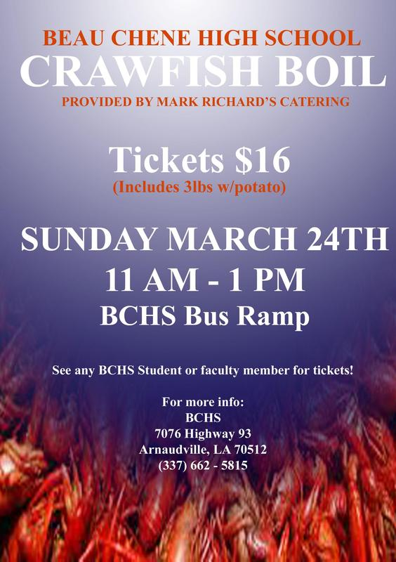 BCHS Annual Crawfish Boil Provided by Mark Richard's Catering
