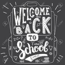 Welcome Back to School Blackboard sign