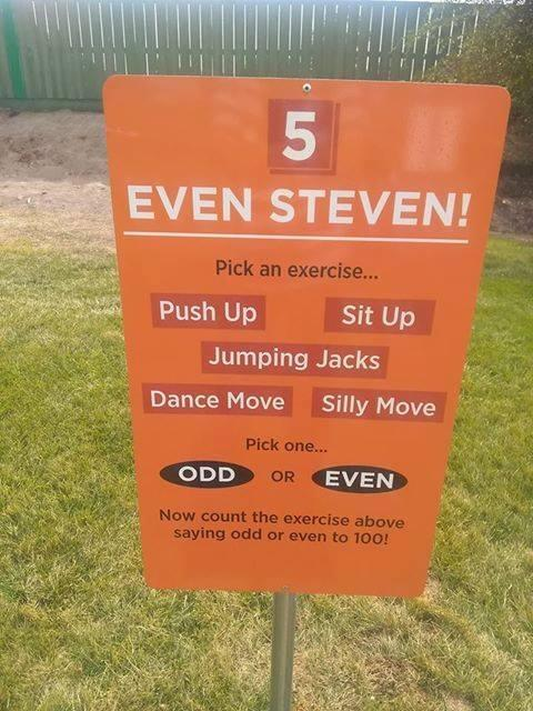"""""""Even Steven"""" sign from math/science playground at Snake River"""