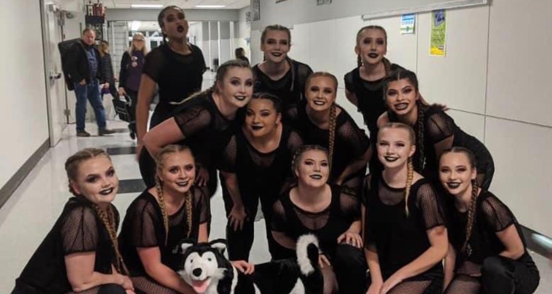 Dance Team with Husky
