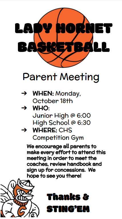 Lady Hornet Basketball Parent Meeting Featured Photo