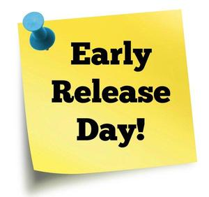 Yellow sticky note with words Early Release Day!
