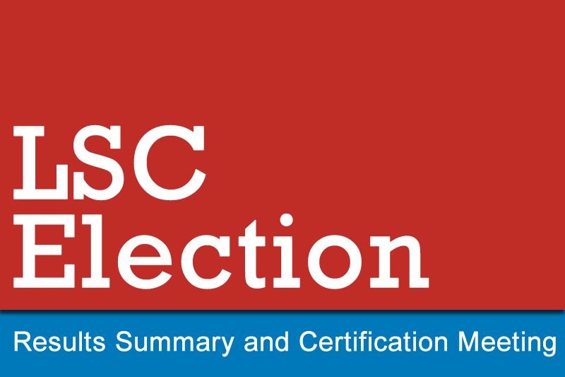 Image LSC Election Results Summary and Certification Banner