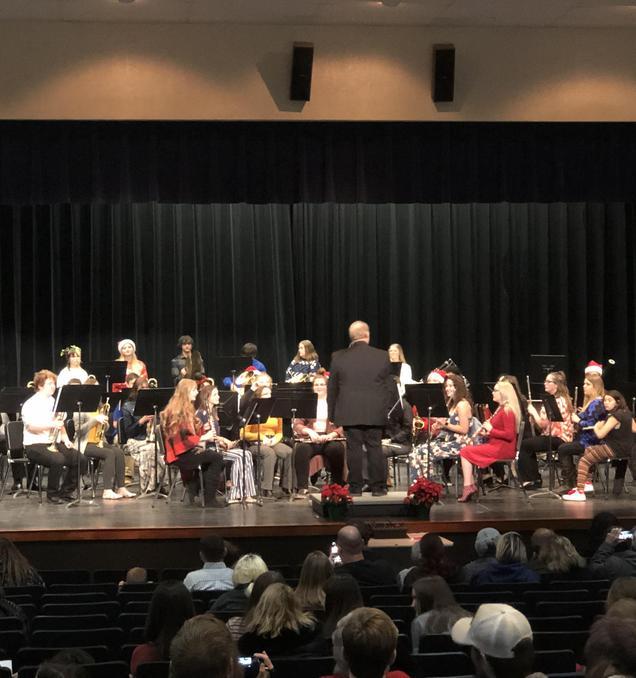 Christmas band concert