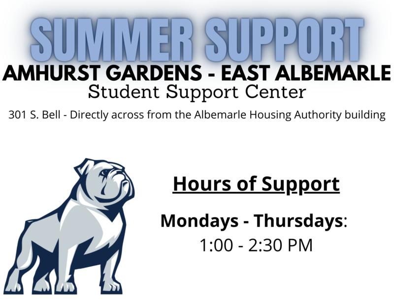 Amhurst Student Support Center - Summer Hours Featured Photo