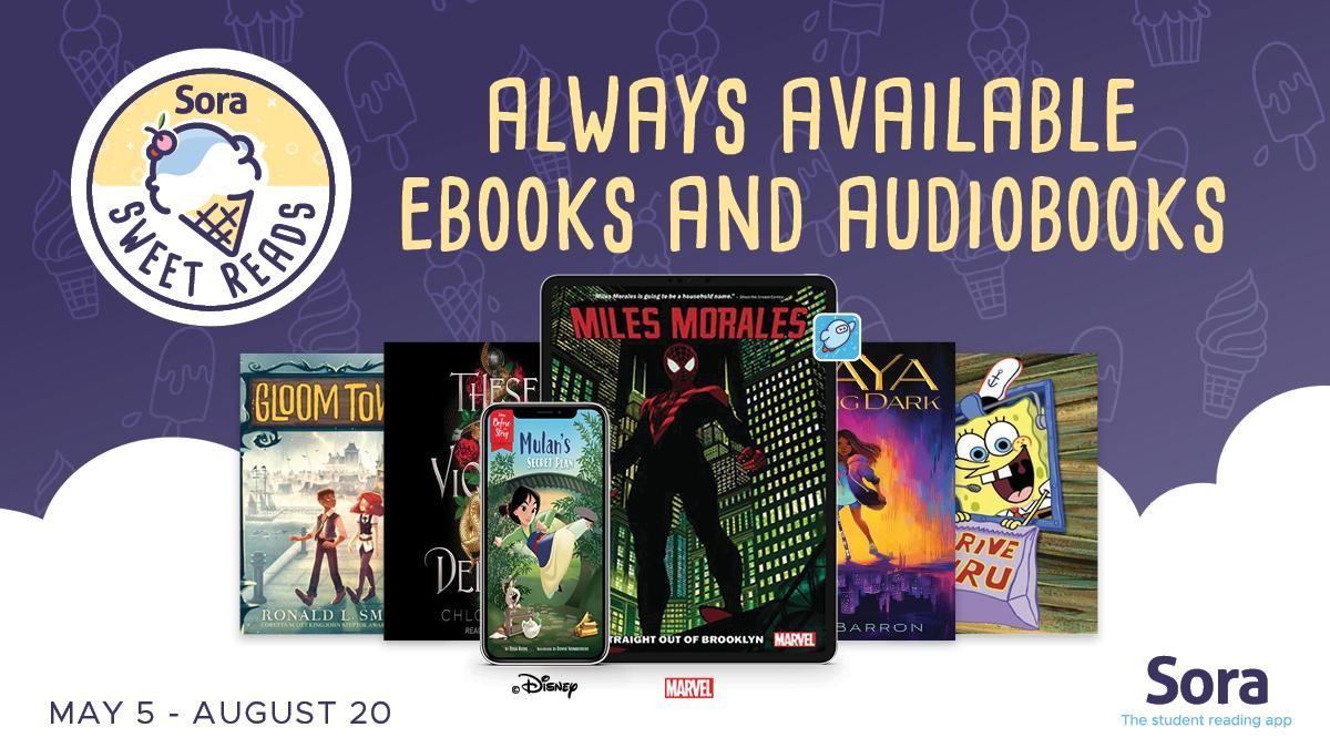 Sora Sweet Reads: Always available e-books and audiobooks