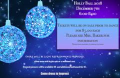 Holly Ball Friday, Dec. 7 $5 tickets