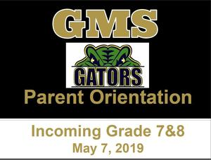 Parent Orientation Power Point - May 7, 2019