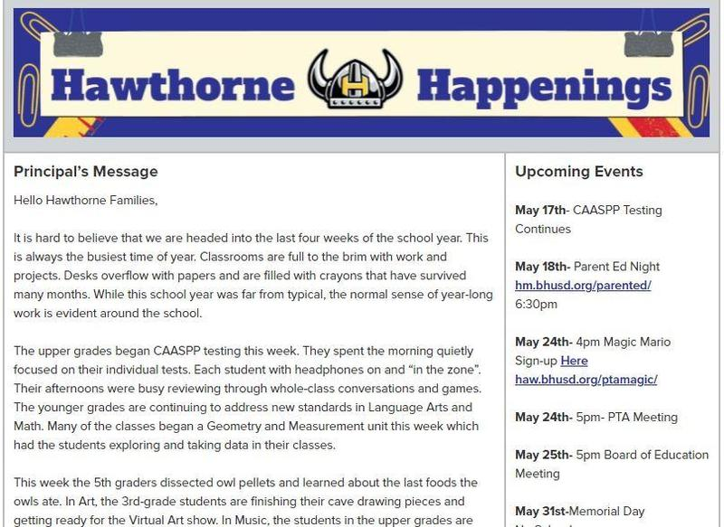 Haw newsletter