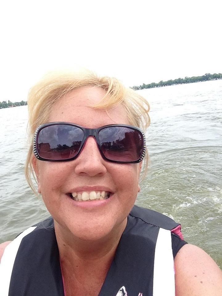 jet ski selfie on the water