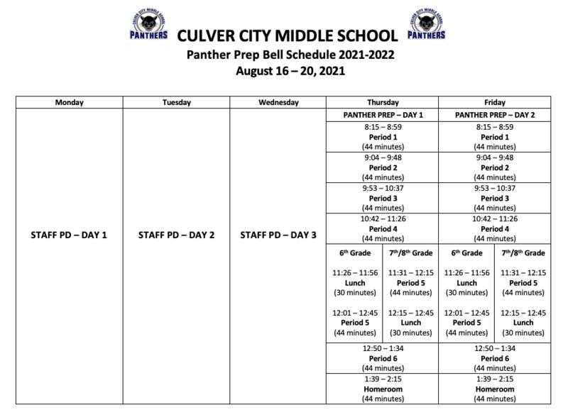 First Week Of School Bell Schedule (& Regular Bell Schedule!) Thumbnail Image
