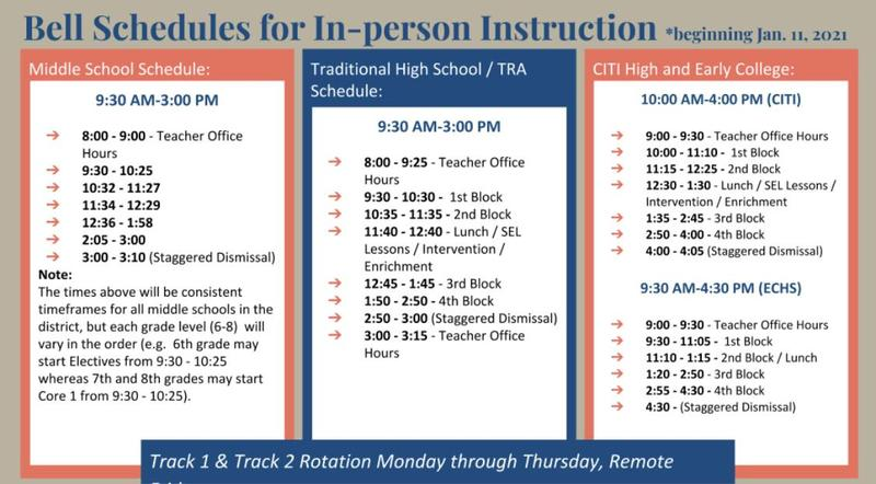 Middle/High School Schedule