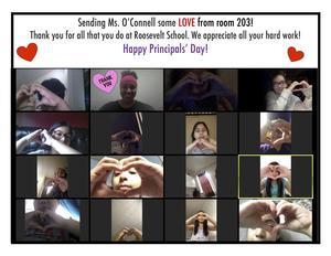 Ms. Peña's 3rd Grade Zoom sending love