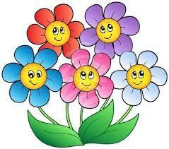 Flowers with happy faces