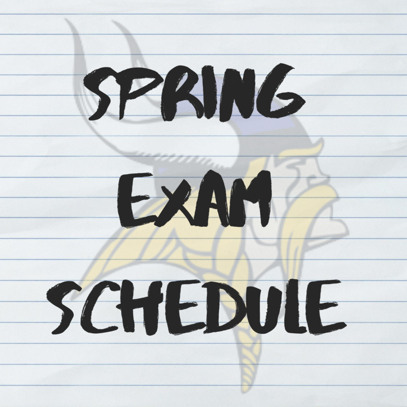 Click Here for the Spring Exam Schedule Thumbnail Image