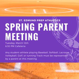 Spring Parent Meeting