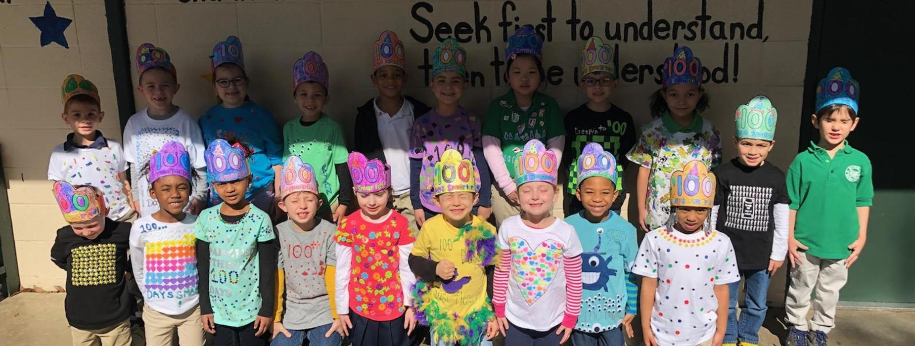 KN Huval 100th day of school