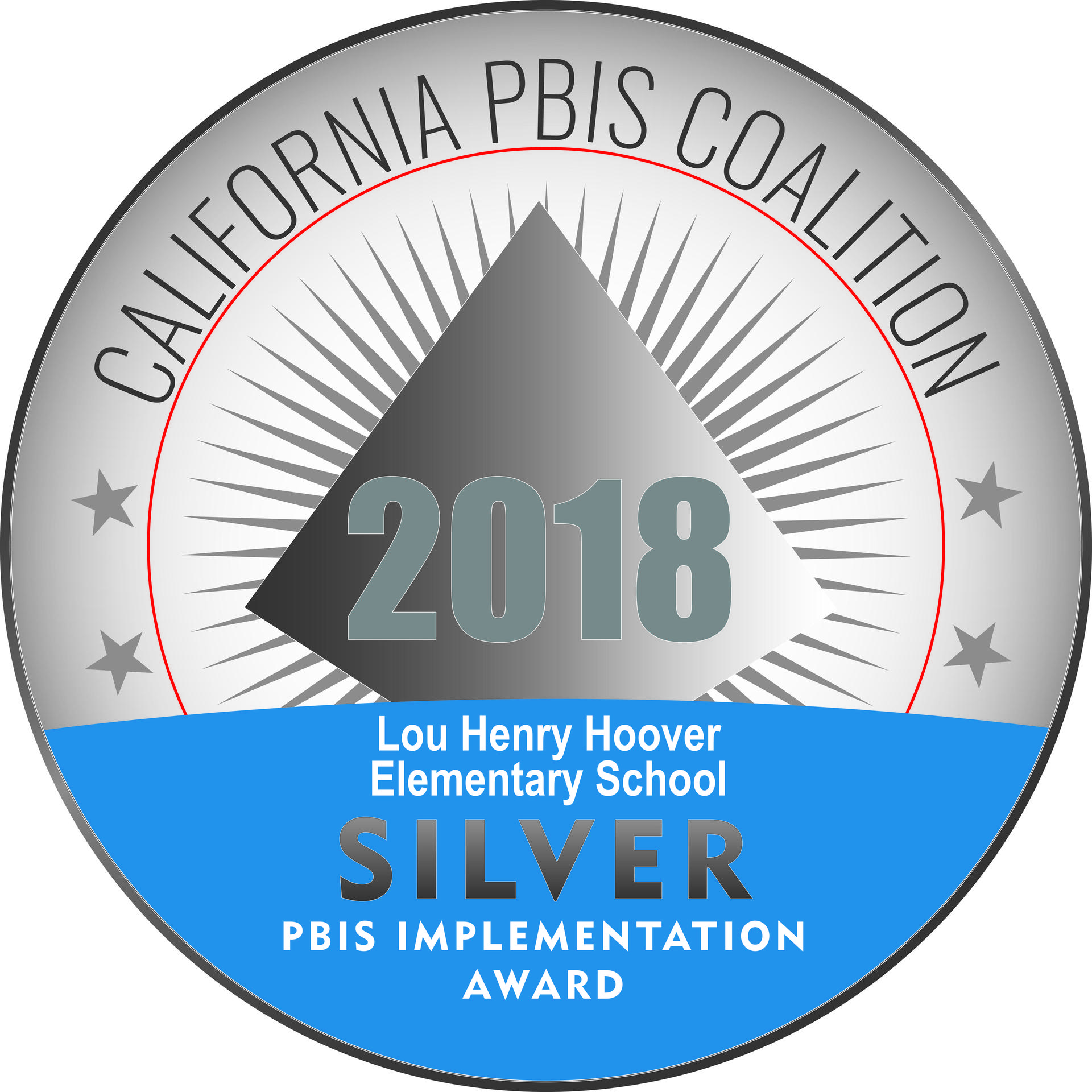 Received 2018 Award for POSITIVE BEHAVIOR INTERVENTIONS AND SUPPORT  HOOVER SCHOOL OF FINE ARTS