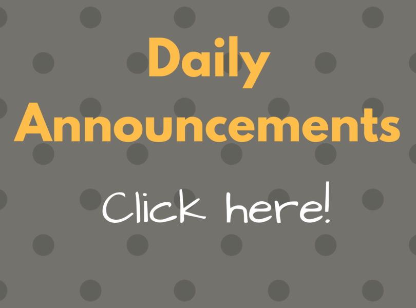daily announcements click here