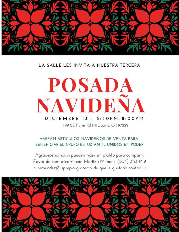 Christmas Posada poster in spanish