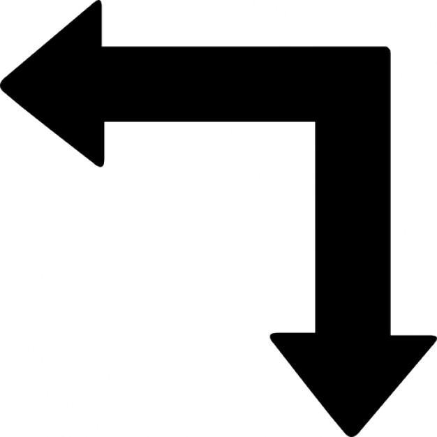 LEFT AND DOWN ARROW