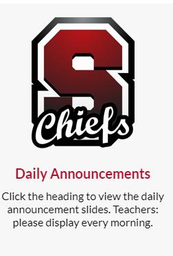 SQHS Daily Announcements