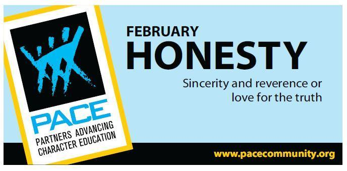 PACE Character Trait for February is Honesty. Thumbnail Image