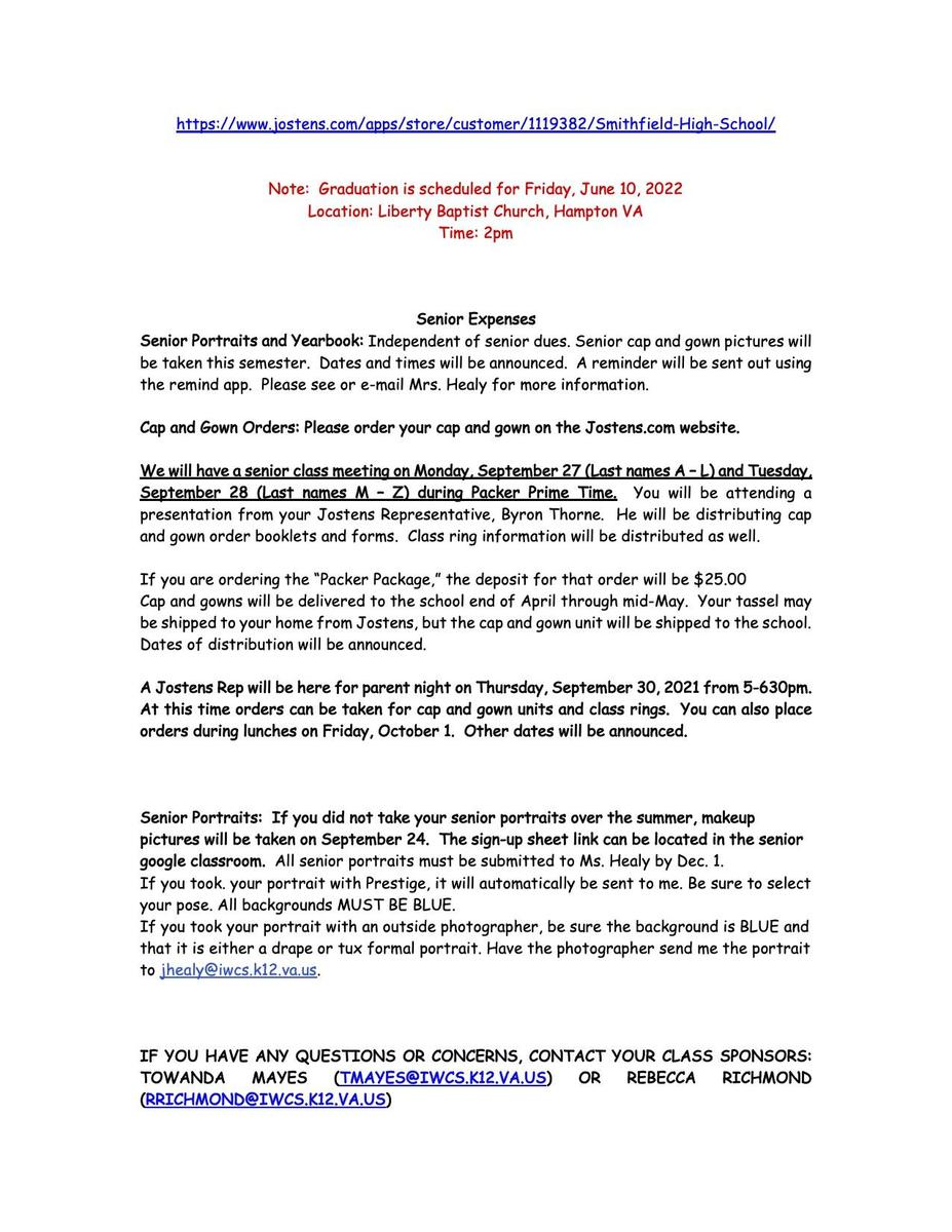Senior Newsletter page 2