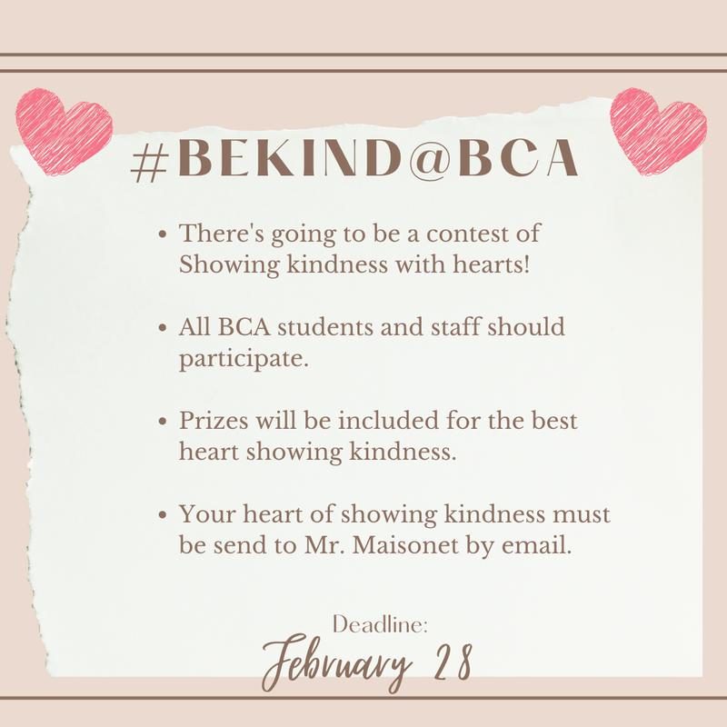 #BeKind@BCA Featured Photo