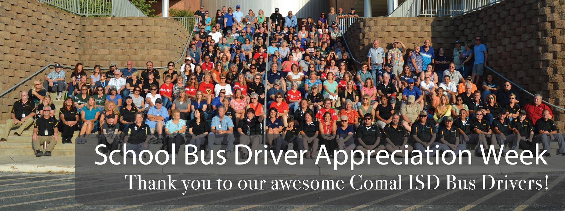 school bus driver appreciation week