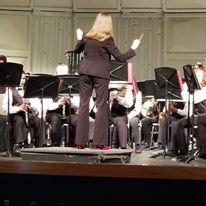 Mrs. Breeden loves band students!