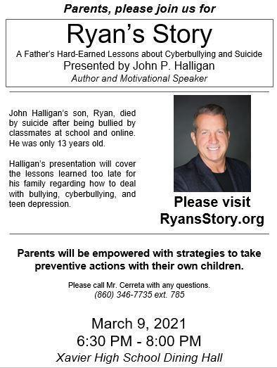 John Halligan to speak with Xavier students, parents.